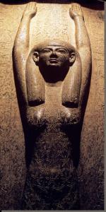 Noet aan de binnenkant van de deksel van de sarcofaag van Merenptah