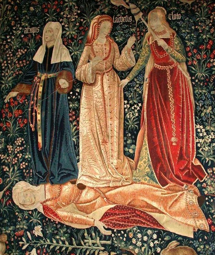 De drie schrikgodinnen, Moires of Fates