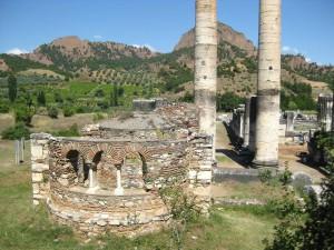 Godin van de verwoeste tempel